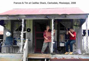 Frances and Tim at the Cadillac Shack near Clarksdale, Mississippi, 2008