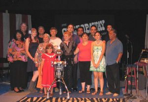 15 performers plus Bingo the Robot in 2009 GallopAway show at El Teatro Campesino