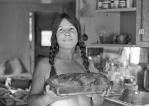 Frances, friendly bread baker on Tedoc Mountain honeymoon, 1981